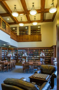 The Two Story Library at the Ambrose School