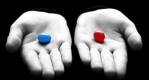 Výsledek obrázku pro blue or red pill