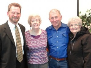 Mr. Jasper with Norma Prentice, who started the Bonners Ferry Chapter in 1974, Bob Vickaryous the current chapter leader and Lois Litalien, who introduced Mr. Jasper to the John Birch Society in 1974 in Orofino, ID
