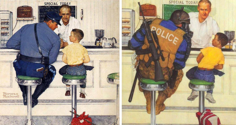 This isn't Norman Rockwell's America
