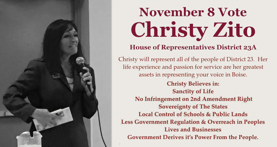 Christy Zito — a true conservative for District 23A Representative