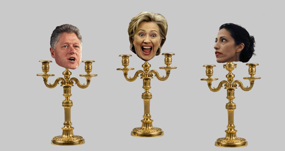 Clinton Scandalabra
