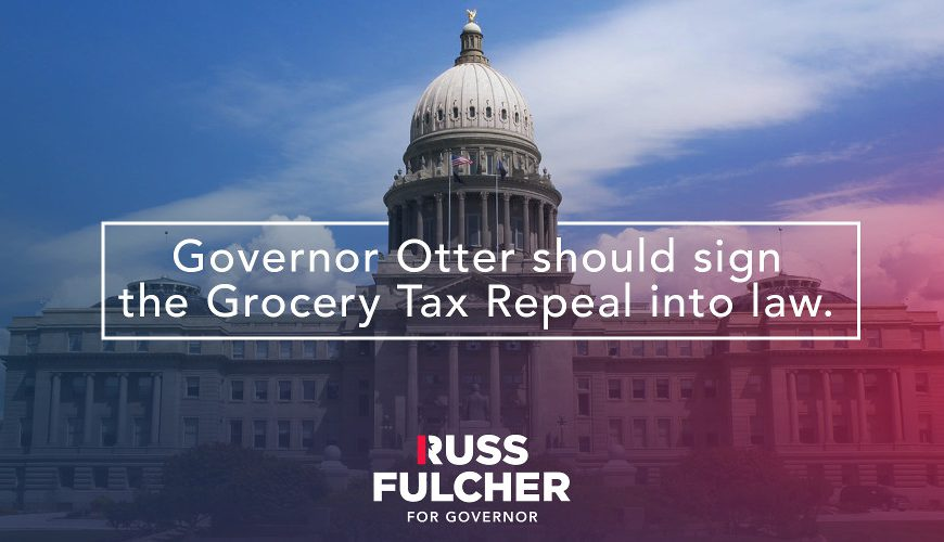 Give Idahoans Tax Relief; Eliminate the Tax on Groceries