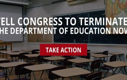 Petition to Support H.R. 899 Terminate the Department of Education
