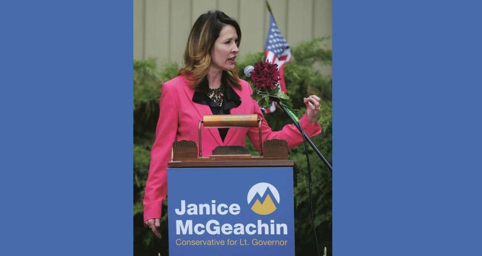Candidate for Lt. Governor Janice McGeachin on the Good Old Boys