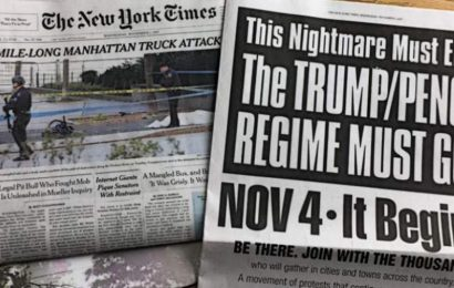 NY Times Promotes Antifa-Communist Nov. 4 Coup Effort Against Trump