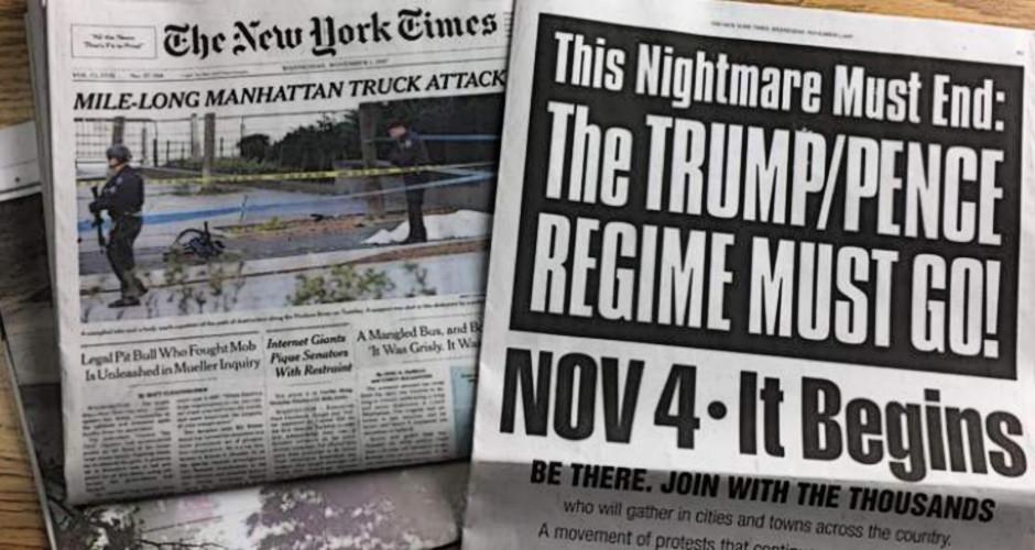 NY Times Promotes Antifa-Communist Nov. 4 Coup Effort Against Trump