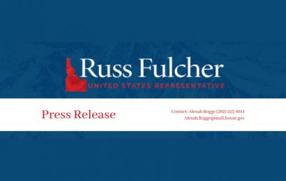 Rep. Russ Fulcher Announces Coeur d'Alene Office Move