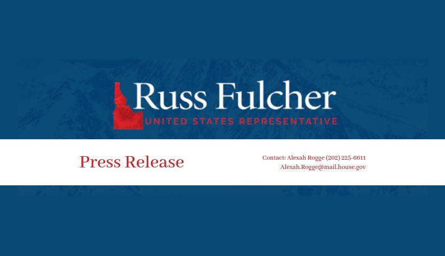 Rep. Russ Fulcher Announces Coeur d'Alene Office Move