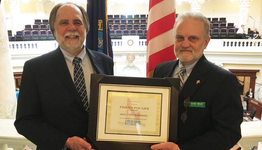 NEWS RELEASE: Idaho Chooses Life Honors Rep. Vito Barbieri